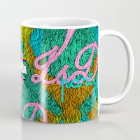 lsd Mugs featuring Lsd party by DIVIDUS