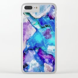 Abstract watercolor I Clear iPhone Case