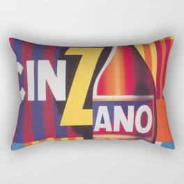 Cinzano Vintage Beverage Poster Rectangular Pillow