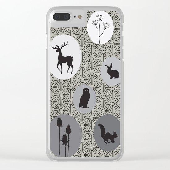 Animals Of The Woods Clear iPhone Case