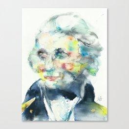 HORATIO NELSON - watercolor portrait Canvas Print