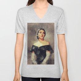 Maria Callas, Music Legend Unisex V-Neck