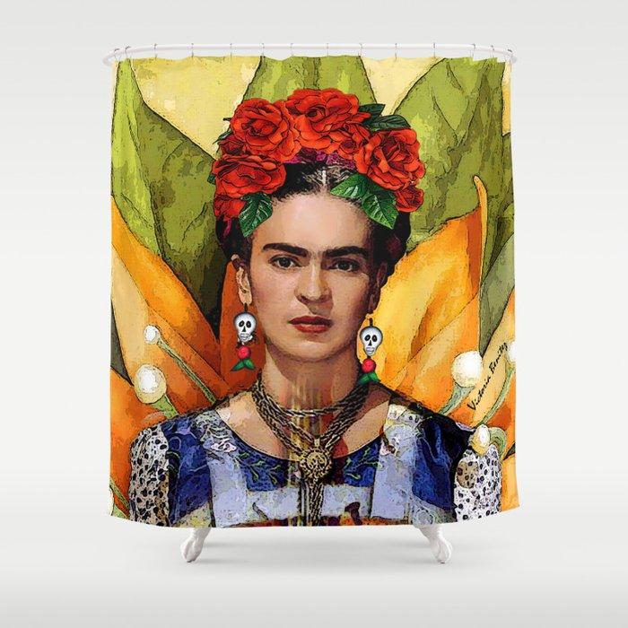 Mi Bella Frida Kahlo Shower Curtain