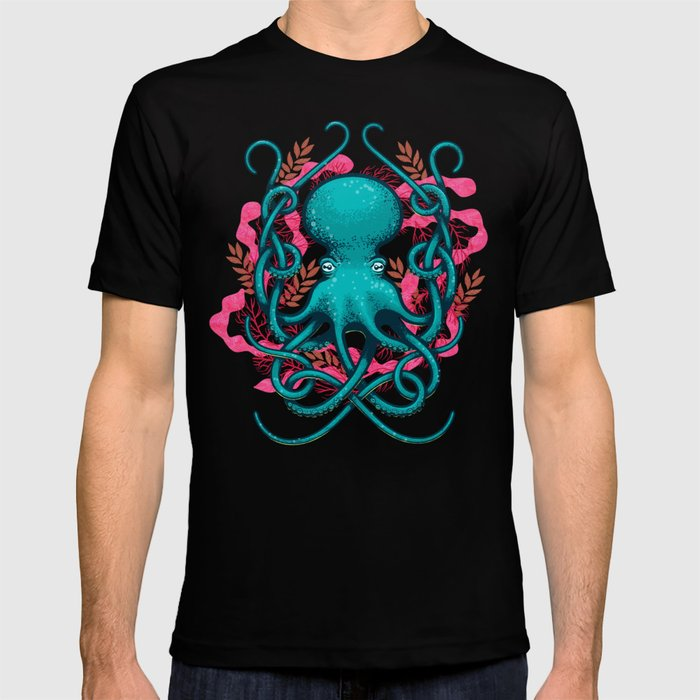Octupus and Coral T-shirt