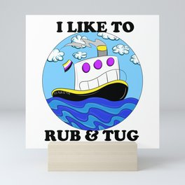 Rub N Tugboat- Nonbinary2 Mini Art Print