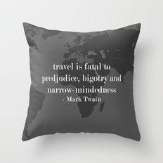 World Travel Throw Pillow