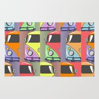 cars Area & Throw Rugs featuring cars by mark ashkenazi