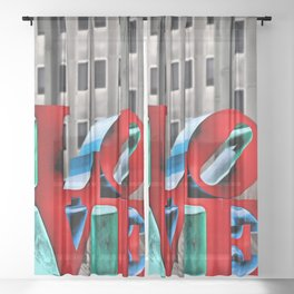 Love from Philly Sheer Curtain