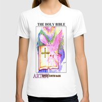 bible T-shirts featuring THE HOLY BIBLE by KEVIN CURTIS BARR'S ART OF FAMOUS FACES
