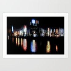 Hamburg Nights Art Print