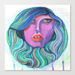 Pretty Oceanic Ombre Face Canvas Print