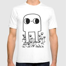 Out In The Yard MEDIUM Mens Fitted Tee White