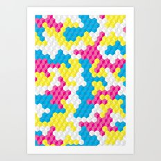 CUBOUFLAGE CANDY Art Print