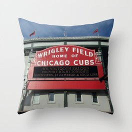 Chicago Wrigley Field Sign Throw Pillow