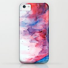 Watercolor magenta & cyan, abstract texture iPhone 5c Slim Case