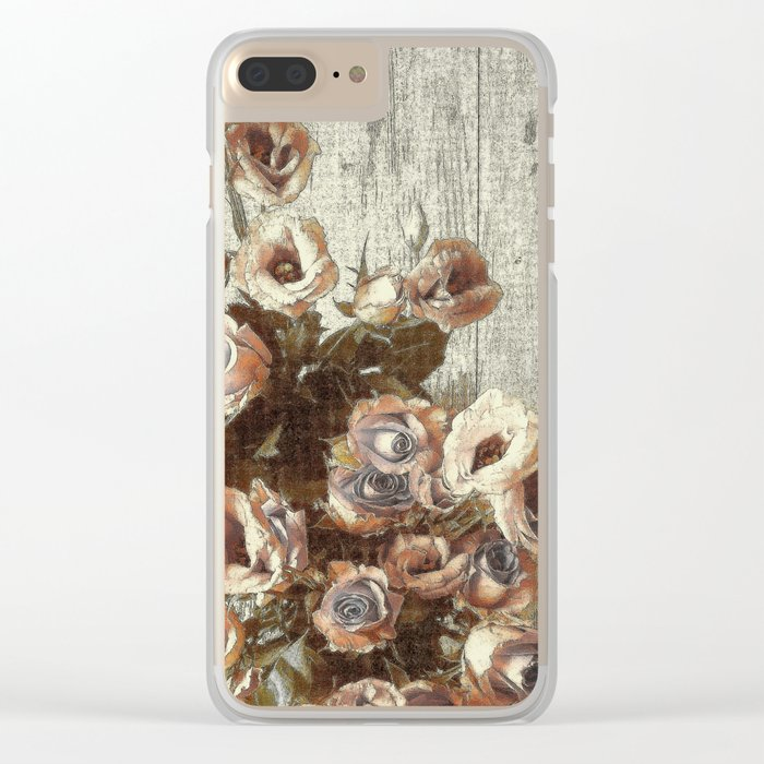 Classic Pastel Floral Clear iPhone Case