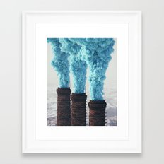 Blue Pollution Framed Art Print