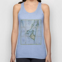 Vintage Map of Cape Fear (1857) Unisex Tank Top