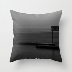 Warning: Strong Current Throw Pillow