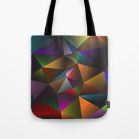 triangles Tote Bags featuring TRIANGLES by eARTh