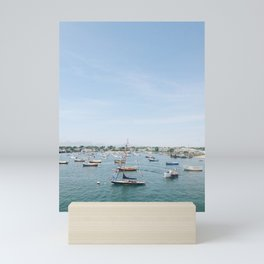 Sailboats in Nantucket Harbor on July Fourth Mini Art Print