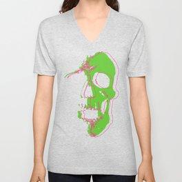 Skull - Neon Unisex V-Neck