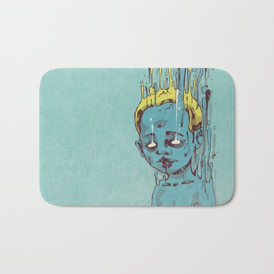 The Blue Boy with Golden Hair Bath Mat