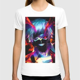 Neon Ghoul face T-shirt