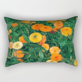 Marigolds by Koloman Moser, 1909 Rectangular Pillow