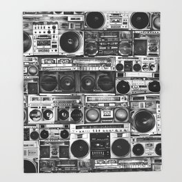 house of boombox Throw Blanket