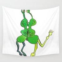 lesbian Wall Tapestries featuring lesbian space alien seeks same by Nehalennia