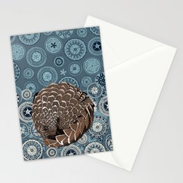pangolin mandala slate Stationery Cards