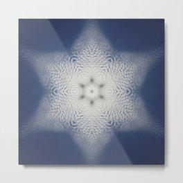 Snowflake of clouds kaleidoscope Metal Print