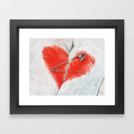 Unbroken by Lars Furtwaengler | Colored Pencil | 2016 Framed Art Print