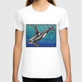 Orca killer whale and ocean T-shirt