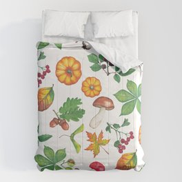 Autumn Forest Colours Comforters
