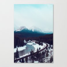 Canadian Rocky Mountains, Banff, Lake Louise, Winter Landscape Canvas Print