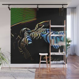 2238s-AK_5488 Nude Woman Striped by Window Blinds Rendered Composition Style Wall Mural