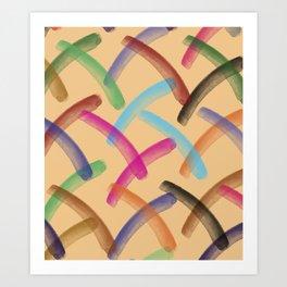 Colourful patterns Art Print