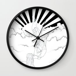 After rain comes sunshine Wall Clock