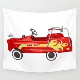 Firetruck Wall Tapestry