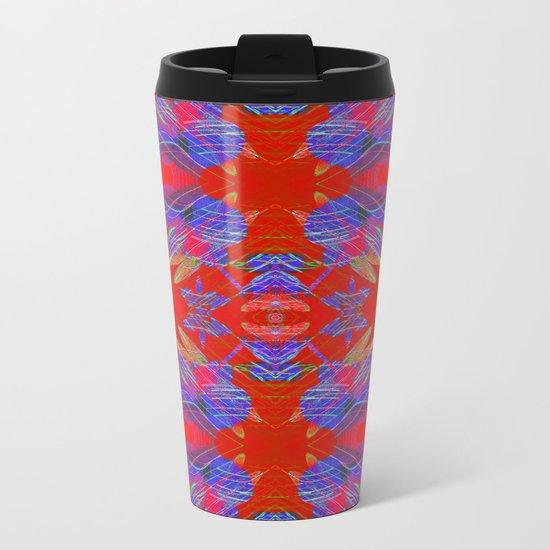 Pattern F Metal Travel Mug