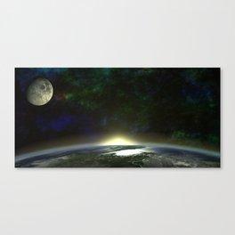 Sunrise From Orbit Canvas Print
