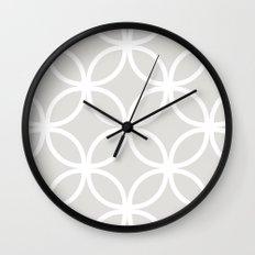 Gray Geometric Circles Wall Clock