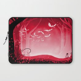 Dark Forest at Dawn in Ruby Laptop Sleeve