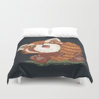 red panda Duvet Covers featuring Panda by Toru Sanogawa
