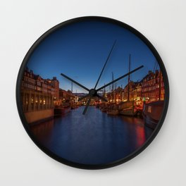 Early evening lights on the Nyhavn Wall Clock