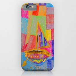 When an umbrella transforms into a boat on Christmas night iPhone Case