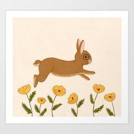 golden leap Art Print