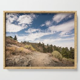 Hiking trail along Pacific Crest Trail in Southern California Serving Tray
